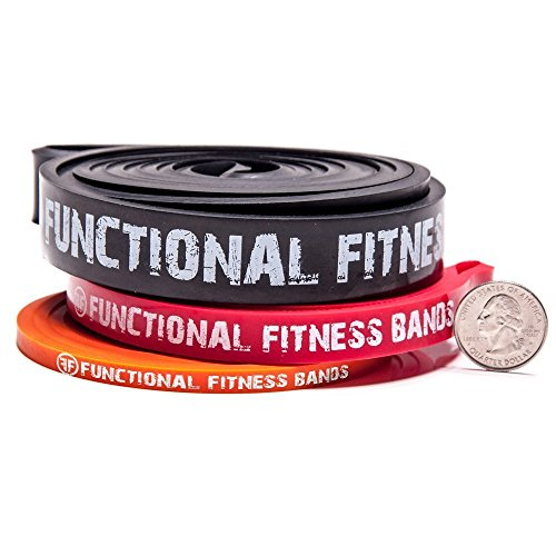 FF Pull up Assistance / CrossFit Band Set - #1, #2, #3 - 5 - 100 lbs (2 - 45 kg) - with Free GWP