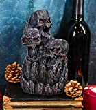 Ebros Gothic Three Screaming Skull Death Mountain Cave Backflow Incense Burner Aroma Figurine Trio Skulls Cliff Rock Mountains Decorative Accent Statue As Ossuary Macabre Halloween Decor