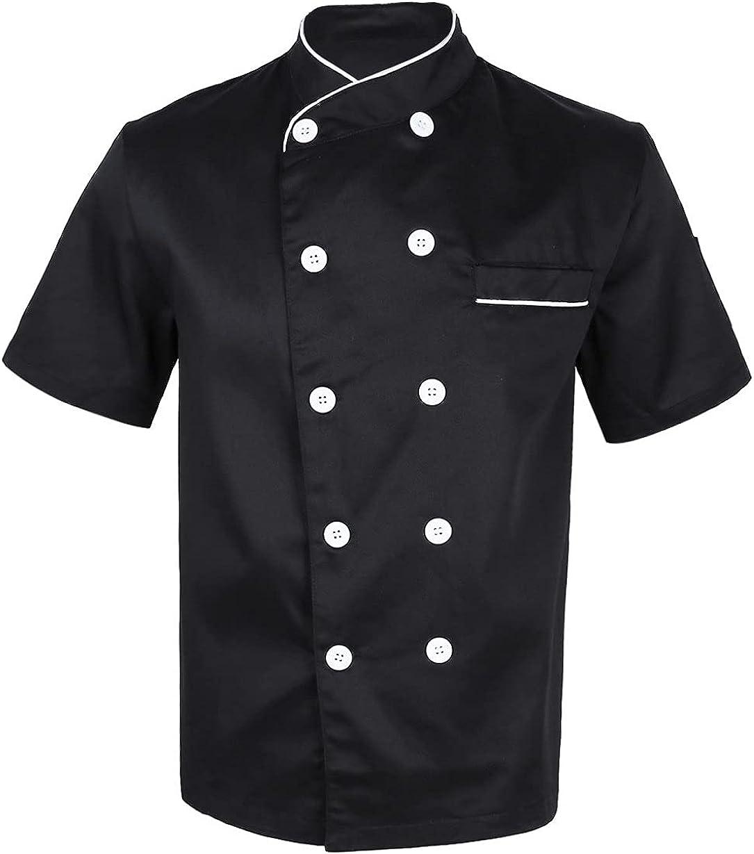 Freebily Men Women Short Sleeve Restaura Chef Cooker Sale SALE% OFF Jacket Coat Bombing new work
