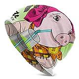 Hdadwy Belle Rose Cochon Fille Tricot Chapeau tricoté Bonnet Bonnet coloré Tricot Chapeau Tricot Chaud Chapeau 3D imprimé Adulte Comfortbale Doux