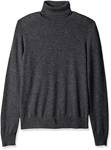 Amazon Brand - BUTTONED DOWN Men's 100% Premium Cashmere Turtleneck Sweater, Dark Grey, X-Large