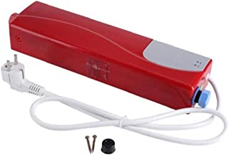1 x mini elektrische kachel, onmiddellijk, met LED-licht, 220 V, 3000 W, onmiddellijk, warm, badgereedschap.