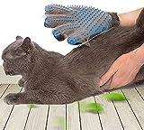 SSRIVER - Guante de Aseo para Mascotas, Cepillo para Eliminar el Pelo, Guantes de Masaje eficientes para Mascotas, Mano Izquierda y Derecha, para Perros y Gatos, Pelo Corto Largo