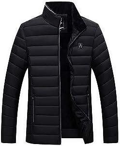 Leewa Jacket Men's Down Jacket Elegant Windproof Outdoor Jacket Collar Winter Thermal Jacket Casual Coat Jackets for Trekking Sports