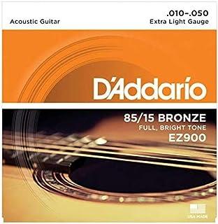 D'Addario EZ900 Cordes en bronze pour guitare acoustique 85/15 Très Léger 10-50