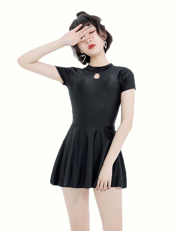 JinNiu 水着 レディース ワンピース セクシー 温泉 タンキニ 体型カバー スカート スイムウェア ビーチウェア 小胸もピッタリ かわいい