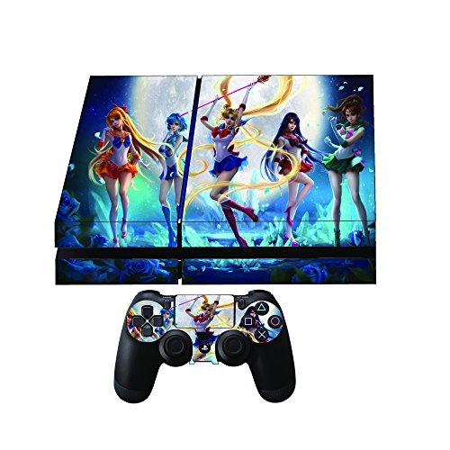 Sailor Moon Premium Designer Limited Edition Playstation 4 Skin + 2 Free PS4 Controller Skins by Gamergeekz