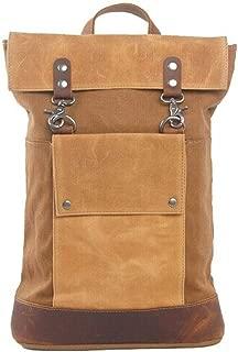Sumuzhe Fashion Series Mini Casual Canvas Backpack Large Capacity Travel Leisure Bag (Color : Khaki, Size : S)