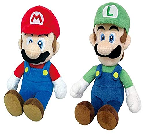 Little Buddy Set of 2 Super Mario All Star 1414 Mario & 1415 Luigi Stuffed Plush Dolls
