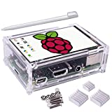 kuman Raspberry Pi 3.5 inch Touchscreen Stift TFT Monitor LCD Display 320 * 480 Resolution with Protective Case + 3 x Heat Sinks+ Touch Pen for Raspberry Pi 3 Model B, Pi 2 Model B & Pi...