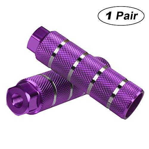 Helaryfreemear - set di 2 pezzi, pedale BMX in lega di alluminio, antiscivolo, Purple, 2