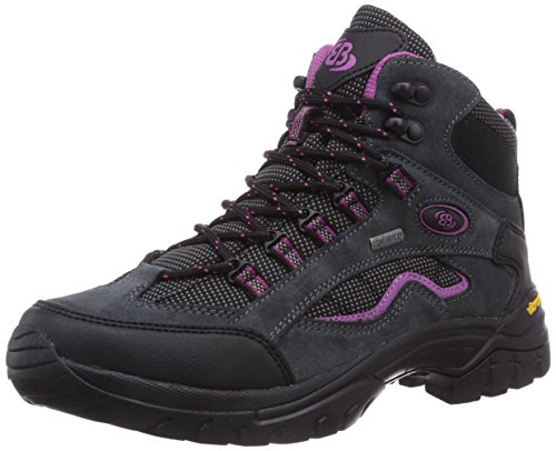 Bruetting SUMMIT HIGH, Damen Trekking- & Wanderstiefel, Grau (GRAU/PINK/SCHWARZ), 37 EU (4 Damen UK)