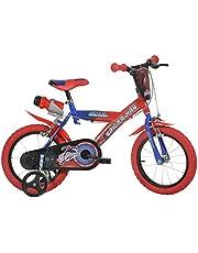 Spiderman Spiderman Kinderfiets voor jongens, 14 inch, originele licentie, kinderfiets met steunwielen, de fiets van Spiderman als cadeau voor jongens