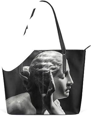 NaiiaN Bolsos de hombro Monedero Compras Estatua de cuero Diosa Gracia Gris para Mujeres Niñas Damas Estudiante Golf Bolso de