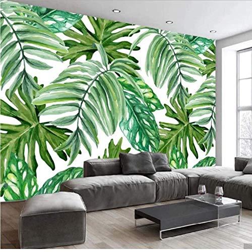 Preisvergleich Produktbild Zybnb 3D Nordic Tropische Blätter Tapete Wandbild Papierrolle Wohnzimmer Home Decor Gedruckt Fototapeten 3D Wandbilder