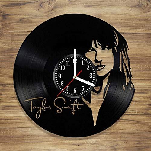 Lianlili Taylor Swift CD Record Record Reloj DE LA Pared Vinyl HUELLO 3D Decorativo Decorativo Arte Decoración Reloj Clásico Exclusivo Reloj de Pared Clásico (Sheet Size : 12 Inch)