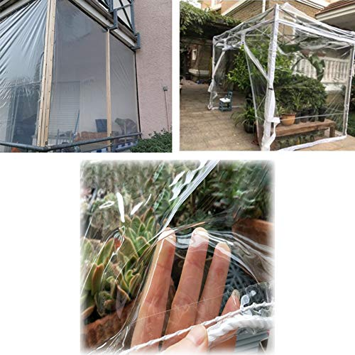 GZHENH Garden Shade Cloth,Transparent Waterproof Cover Dust-proof Rainproof Used for Camping Gardening Anti-aging Keep Warm PVC,customizable (Color : Clear, Size : 3.8x4.8m)