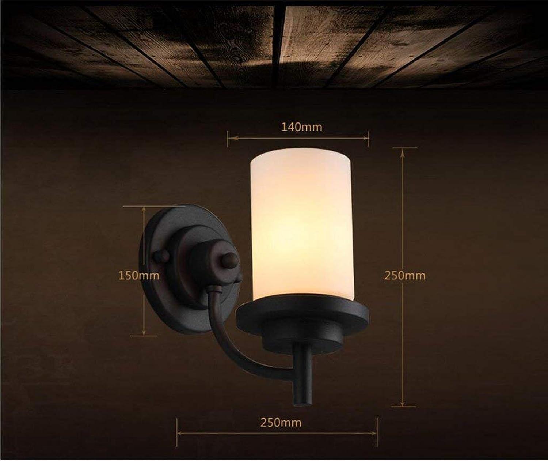 FJTXC Exquisite Dauerlicht Eisen, Haus Retro Lobby Dekor Nachttischlampe, Lampen Laternen Treppe Dauerlicht Gang Einzelkopf E27,25  25Cm Whlen