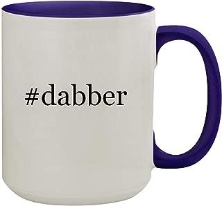 #dabber - 15oz Hashtag Ceramic Inner & Handle Colored Coffee Mug, Deep Purple