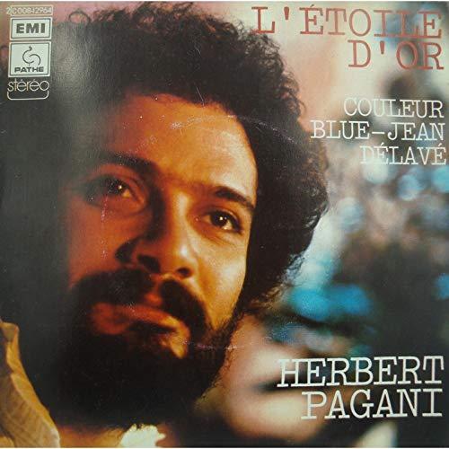 HERBERT PAGANI l\'étoile d\'or/couleur blue-jean délavé SP 1974 Pathé