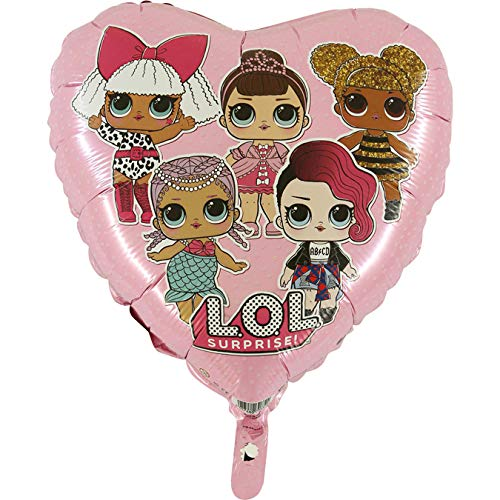 Toyland® Palloncino Foil di Bambino Rosa Punteggiato LOL Surprise