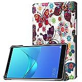 Lobwerk Tablet Hülle für Huawei MediaPad M5 8.4 Zoll Schutzhülle Smart Cover mit Auto Sleep/Wake, Standfunktion & Touchpen