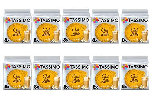 Tassimo Chai Latte Kaffeepads (10 Stück, insgesamt 80 Kapseln, 80 Portionen)