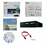 ASUS BW-16D1HT 16X Blu-Ray BDXL M-DISC CD DVD Bluray Internal Burner Drive with FREE 3pk MDisc BD + BD Suite Software + Cables & Mounting Screws
