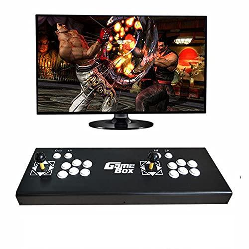 Consola De Juegos De Arcade, Consola De Juegos De Arcade para El Hogar Pan-Dorabox3333 In One Fighting Double Joystick Conectado A TV, Hdmi Vga USB Latest System Arcade, 64X22X15Cm HD