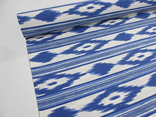 Confección Saymi Metraje 0,50 MTS Tejido loneta Estampada Ref. Mallorquina Azul, con Ancho 2,80 MTS.