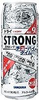サンガリア ストロング チューハイタイム ゼロ ドライ 490ml缶 1ケース24本