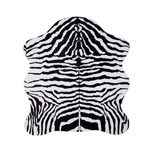 MustMat Faux Animal Rug 4.6'x5.2' Soft and Cute Zebra Throw Rugs for Living Room