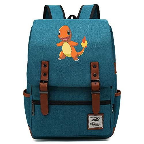 Fire Dragon Print Casual Daypack, Lightweight School Travel Rucksack, Fits 15'' Laptop Tablet 16 inch. Color-20.