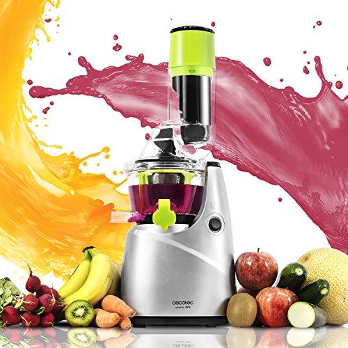 Cecotec Licuadora de Prensado en Frío Cecojuicer Pro. Para Frutas y Verduras, Extractor de Jugo con Canal XL para Fruta entera, Filtro especial para Sorbetes y Helados, Nuevo Modelo Mejorado