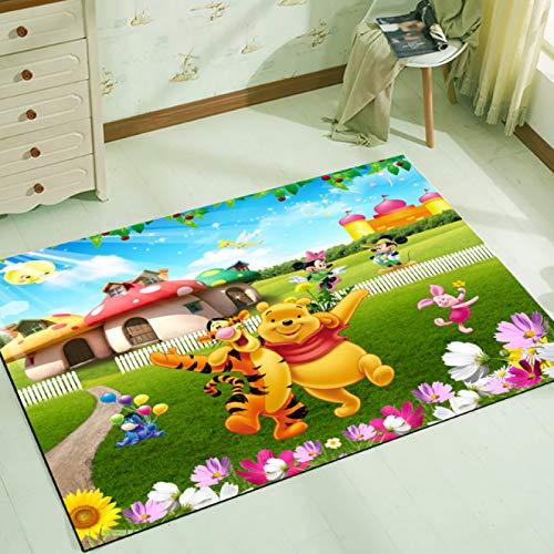 yug Alfombra Alfombras De Juego para Niños Sala De Estar Dormitorio Alfombrillas Antideslizantes Rectangulares Lavables Dibujos Animados Winnie The Pooh Y Tigger Nordic