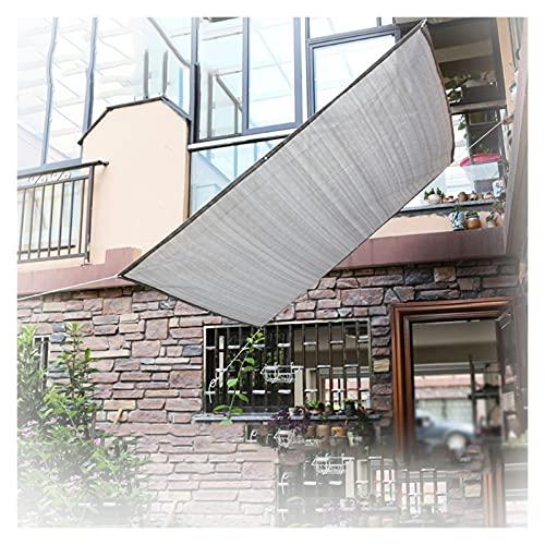 ALGFree Toldo Vela De Sombra, Bloqueador Solar Tela Malla Lona por Invernadero Planta Patio Césped Red De Sombra, Borde con Cinta, con Ojales (Color : Gray, Size : 4x6m)
