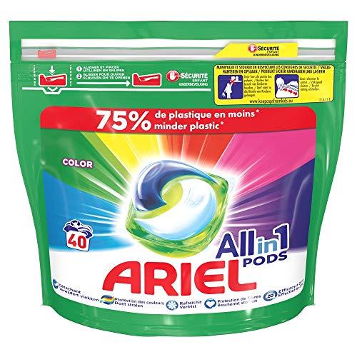 Ariel Allin1 verfwasmiddel in vloeibare capsules, uitzonderlijk tegen vlekken, 40 wasbeurten