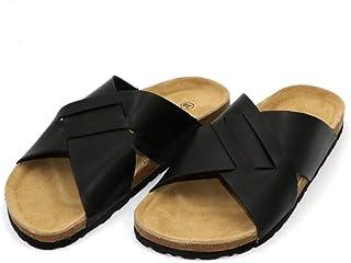 COMFORTNESS Black Sturdy Slipper for Men