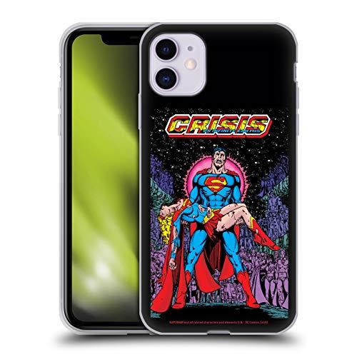 Head Case Designs Licenciado Oficialmente Superman DC Comics Crisis de Supergirl en Tierras Infinitas Fundas de cómics Famosas Carcasa de Gel de Silicona Compatible con Apple iPhone 11