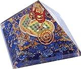 Orgonite pyramide fleur de vie Lapis lazuli (Diffuseur d'énergie positive)