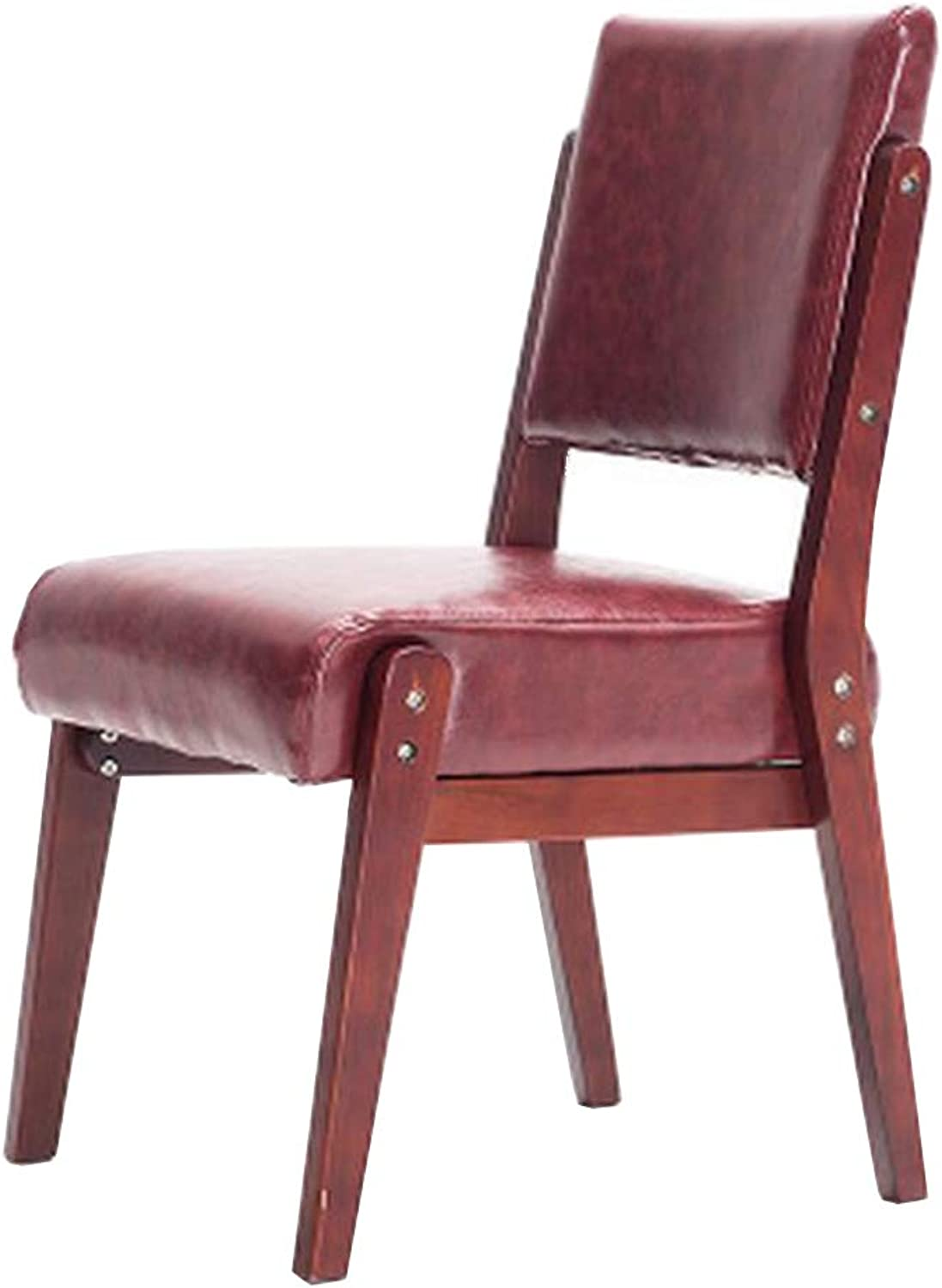 DLDL Solid wood dining chair back chair modern minimalist retro home chair (color   C)