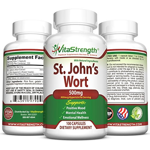St. John'S Wort - 500Mg X 100 Capsules - Saint Johns Wort Extract For Mood Support - Promotes Mental Health &Amp; Positive Emotional Wellness