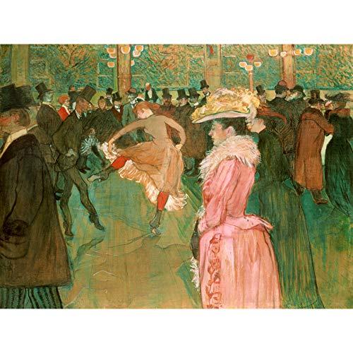 Henri De Toulouse Lautrec In De Moulin Rouge De Dans Grote Ingelijste Art Print