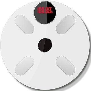 WUIO App Home Báscula Inteligente Bluetooth, Báscula De Grasa Corporal, Báscula Recargable USB, Báscula Electrónica De Precisión, Temperatura Ambiente Medible, Capacidad Máxima (180 KG)