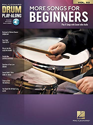 More Songs for Beginners: Drum Play-Along Volume 52 (Hal Leonard Drum Play-Along, Band 52)