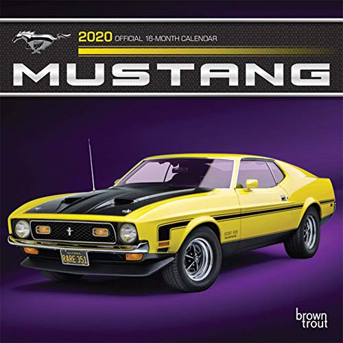 Mustang 2020 7 x 7 Inch Monthly Mini Wall Calendar with Foil Stamped Cover, Ford Motor Muscle Car