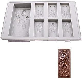 Pastel de Chocolate Star Wars Bandeja de Hielo de Han Solo en carbonita Bandeja de Hielo de la Jalea del silicón