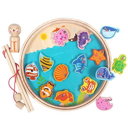 Magnet Angeln Spielzeug, Spiele für Kinder Fisch Spielzeug, Lernspielzeug für Kinder, pädagogische Geschenke für Mädchen Jungen Kinder 3 4 5-Jährige