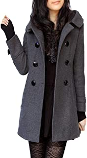 Riva Ward Women's Daily Fall/Winter Long Trench Coat, Solid Colored V Neck Long Sleeve W