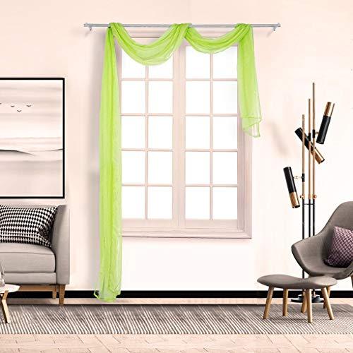 ToDIDAF Querbehang Transparente Gardinen Vorhang, 0.9 x 5m Vorhänge Tüll Fenster Behandlung Voile Drapieren, 1 Paneelstoff für Wohnzimmer Schlafzimmer Kinderzimmer Babyzimmer Balkon Deko (D)